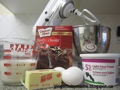 Make box cake taste homemade by doing the following: Instead of water, use the equivalent amount of MILK Instead of vegetable oil, use the equivalent amount of MELTED BUTTER Add THREE tablespoons of sour cream Add one tablespoon of VANILLA EXTRACT