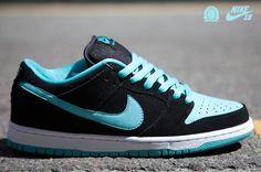Nike Dunk Low Pro SB - black / clear jade / white