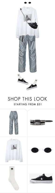 """""""I feel stupid and contagious"""" by natysdvd ❤ liked on Polyvore featuring J.W. Anderson, Jimmy Choo and Helmut Lang"""
