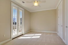 Secondary bedroom with French doors