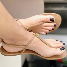 Swipe for more feet Pretty Sandals, Cute Sandals, T Strap Sandals, Flat Sandals, Wedge Sandals Outfit, Beautiful Sandals, Girls Sandals, Summer Sandals, Cute Toes