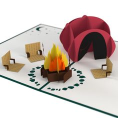 Camping Trip pop up card - thumbnail