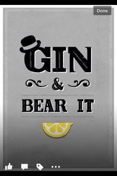 Gin saying for bar decor