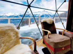 Room with a view,  Whitepod Resort, Les Cerniers, Switzerland: Room With a View : Condé Nast Traveler