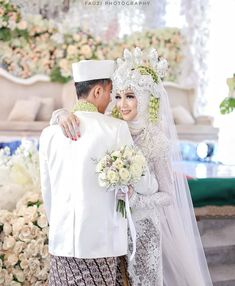 Akad from   Mua by   Handbouquet by   Wedding Couple Poses, Couple Posing, Wedding Couples, Foto Wedding, Wedding Day, Make Up Pengantin, Muslim Wedding Dresses, Hijab Tutorial, Sweet Couple