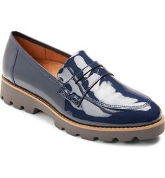 Cheryl Lug Sole Loafer Loafers For Women, Loafers Men, Blue Loafers, Shoes Women, Leather Slip Ons, Patent Leather, Loafers Online, Casual Loafers, Casual Shoes