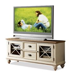 Woodbridge Home Designs Cottage Two Tone TV Stand