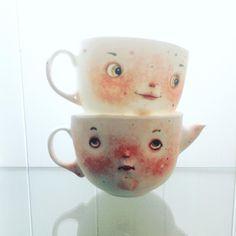 "1,637 curtidas, 24 comentários - Natalia (@dollechka) no Instagram: ""Старая ключница и ее воспитанница Жоржета. #dollechka #porcelain #sculpture #cup #coffecups #tea…"""