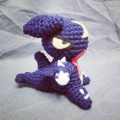 Garchomp! I had somebody request this little fella and I think he turned out spectacularly.  #garchomp #pokemon #amigurumi #crochet #handmade #kawaii #yarn #commission
