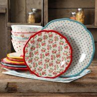 Shop for The Pioneer Woman Dinnerware Sets in Dining & Entertaining. Buy products such as The Pioneer Woman Cowgirl Lace Dinnerware Set at Walmart and save. The Pioneer Woman, Pioneer Woman Dishes, Pioneer Woman Kitchen, Pioneer Women, Pioneer Woman Dinnerware, Dinnerware Sets Walmart, Famous Recipe, Dots Design, Plates And Bowls