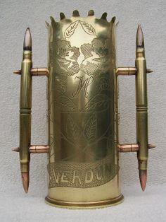 Trench Art : embossed 65 mm shell ' Verdun '   Flickr - Photo Sharing!