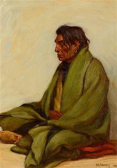 joseph henry sharp | Joseph Henry Sharp Chief Big-Ox, Crow , 1904 12 x 8.75 in…