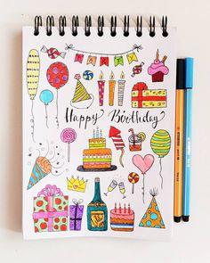 Some Birthday Icons  #mimitsudoodles to see all my doodleicons at one sight  . .  #bulletjournal #bulletjournaling #doodles #planner #bujo #bujojunkies #doodling #showmeyourplanner #plannericons #plannercommunity  #bujocommunity #planneraddict #bulletjournalcommunity #bulletjournaljunkies #doodle #mimitsudoodles #sketchnotes #bulletjournaldeutschland #sketchnote #calender #bulletjournalnewbie #bujoinspire #doodleicons #stationary #plannerd #stabilo #bujobeauty #birthday