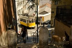 Alfama, Lisboa, Lisbon, Portugal Lisbon Tram, Iron Balcony, Spain And Portugal, Most Beautiful Cities, Portuguese, Tramway, Homeland, City, Places