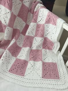 Crochet Baby Blanket or Throw Pattern - Arielles Square The pattern is written in English only. .•*¨*•.¸♥¸.•*¨*•.¸♥¸.•*¨*•.¸♥¸.•*¨*•.¸♥¸.•*¨*•.¸♥¸.•*¨*•.¸♥¸.•*¨*•.¸♥¸.•*¨*•.¸♥¸.•*¨*•.¸ This pattern was designed for my niece as a wedding gift. I wanted a timeless yet simple square that could be used for a throw, a baby blanket, or even as a table runner. It came out quite elegant. This will be your go to pattern for a wedding gift or baby shower. The square is VERY easy, especially since it…
