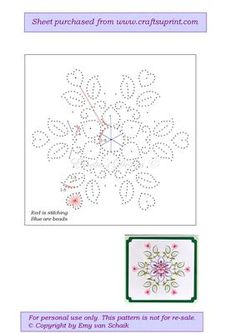 ED003 Flower Mandala on Craftsuprint designed by Emy van Schaik - Stitching with beads - Now available for download!
