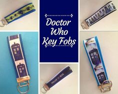 Excited to share the latest addition to my #etsy shop: Doctor Who Key Fobs: TARDIS, Dalek, Police Box with Keychain Ring Wristlet Madman with a Box Wibbly Wobbly Timey Wimey ribbon cotton webbing #accessories #keychain #blue #birthday #fathersday #white #doctorwho #tardis #drwho