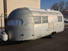 1953 Silver streak Clipper vintage travel trailer rv Antique Alien eyes retro in RVs & Campers | eBay Motors