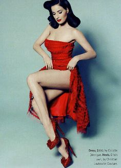 Many women want that lovely dress.   those shoes.    dita's legs  overall loveliness!