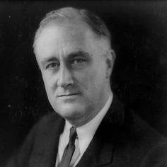 Franklin D Roosevelt, Thirty-Second President of the United States Born 1882 - Died 1945 Served 1933 - 1945 Died in office.