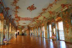 The gorgeous ballroom at Charlottenburg Palace (Schloss Charlottenburg) in Berlin, Germany.
