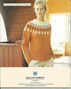 Dale of Norway Trends Lady's Men's Sweaters Knitting Pattern | eBay