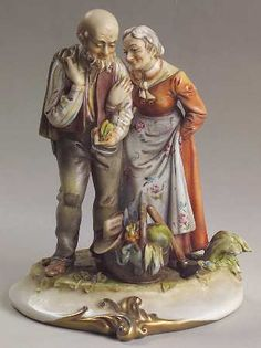 THE OCTOGENARIANS Figurine by Antonio Borsato at Replacements, Ltd