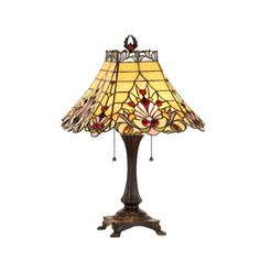 Features:  -Victorian collection.  -Style: Tiffany.  -484 Pieces glass cut.  -Downlight.  -Indoor setting.  -72 Cabochons.  Fixture Finish: -Antique bronze.  Hardware Finish: -Zinc plated.  Fixture Ma