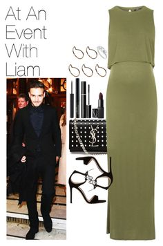 """At An Event With Liam"" by onedirectionimagineoutfits99 ❤ liked on Polyvore featuring Yves Saint Laurent, Topshop, Gianvito Rossi, SUQQU, NARS Cosmetics and Pieces"