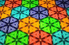 Magna-Tiles Regular Tessellation: Hexagons