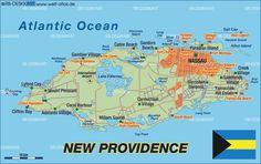 Map of New Providence (Bahamas)
