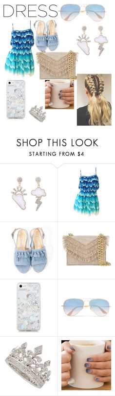 """Throw-and-go-Dress"" by lowkeymaverick ❤ liked on Polyvore featuring Bionda Castana, Cynthia Rowley, Skinnydip, Ray-Ban and MINX"