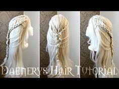 Daenerys Targaryen inspired Braided Hairstyle Tutorial by Cira Las Vegas - YouTube