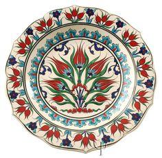 Iznik Design Ceramic Plate - Tulip yurdan.com