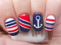 Holy Manicures: Nautical Nails.