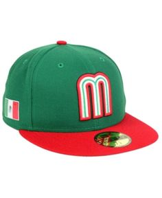 New Era Mexico World Baseball Classic 59FIFTY Fitted Cap - Green 8. Clásico  Mundial De BéisbolGorras ... 6d7617591ff