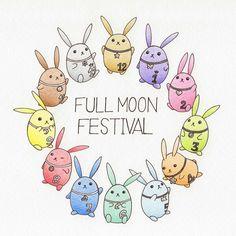 Everyone's tsuki usa (Tsuki: moon and usa: rabbit)