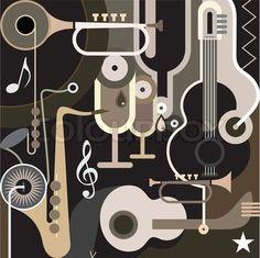musical instruments artwork #musicart #artwork #music www.pinterest.com/TheHitman14/music-art-%2B/