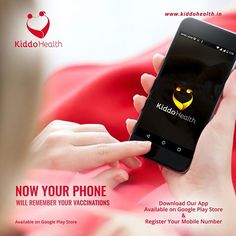 Get Digital and know about your kids vaccination calendar.  #KiddoHealth #Health #Vaccination #GetDigital #App #Child #India