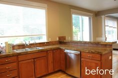 Kitchen Before & After: A Standard Builders Kitchen Gets a Better Layout Kitchen Remodel
