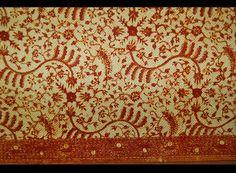 Kain Panjang, Long cloth used as lower body wrapper. Java, north coast, Indramayu. Batik patterning on cotton. Ann Dunham Collection No. 13.