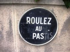 """Verkeersboord """"Roulez au Pas"""""""