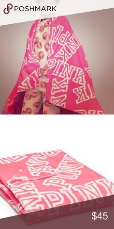 Vs pink blankies New !! So soft so cute so warm PINK Victoria's Secret Accessories