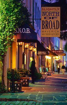Restaurants and Shops, East Bay St., Charleston, SC  © Doug Hickok