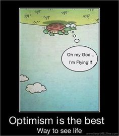 Now here's a great idea about optimism!