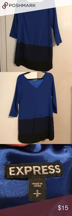 Express long sleeved dress Long sleeved express dress with v back detail. Never worn with no tags Express Dresses