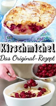 Cherry Michel - the original recipe DELICIOUS- Kirschmichel – das Original-Rezept Easy Cake Recipes, Cookie Recipes, Dessert Recipes, Egg Recipes, Brownie Recipes, Pizza Recipes, Diabetic Recipes, Food Cakes, Best Pancake Recipe