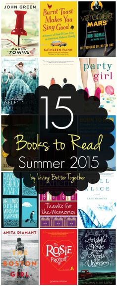 This list of 15 Books to Read this Summer has everything from chick lit to adventure to mystery. Find your next great read and escape! <-- I've added about 10 of the 15 books to my to read list. I Love Books, Great Books, Books To Read, My Books, Love Reading, Reading Lists, Book Lists, Reading Books, Romance