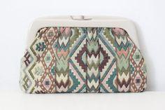 Vintage Kilim Pastel Clutch by cocoandorange on Etsy #vintage