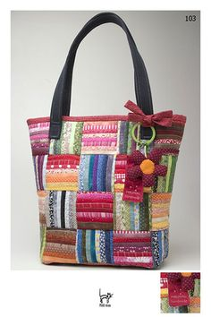 patchwork bag- This would be cute with salvages! Sacs Tote Bags, Quilted Tote Bags, Patchwork Bags, Tote Purse, Coach Purse, Coach Handbags, Bag Quilt, Craft Bags, Fabric Bags
